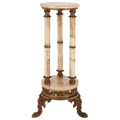 French 19th Century Onyx and Gilt Metal Stand