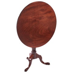 Quality Georgian Mahogany Round Tripod Table