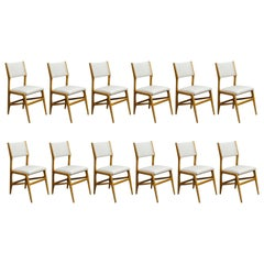 Set of 12 Gio Ponti Chairs, Model 687, Italy, 1953
