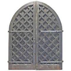Pair of Oversized Oak Medieval Style Castle Doors