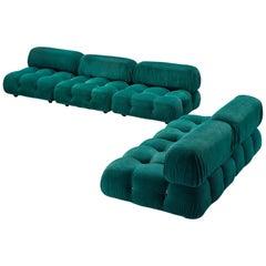 Mario Bellini 'Camaleonda' Modular Sofa in Green Corduroy