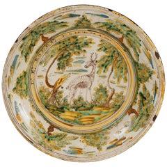 Ceramic Plate, Talavera, Spain, 17th Century