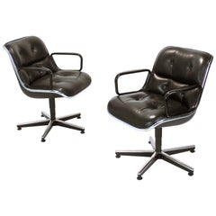 Midcentury Executive Swivel Armchair by Charles Pollock for Knoll International