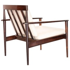 1950s Lounge Chair in Rosewood, Grete Jalk Design, Brazilian Production