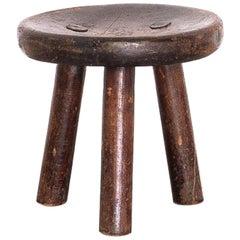 1900s Stool in Hardwood, Brazil Rustic Furniture