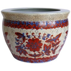 Chinese Export Porcelain Jardiniere or Planter Hand Painted, circa 1940