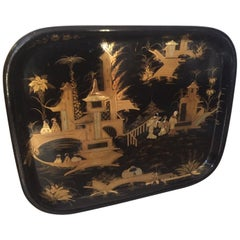 French Napoleon III Period Hand Painted Platter