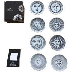 Set of Fornasetti Atalier Soli E Lune, Sun & Moon Boxed Coaster Set