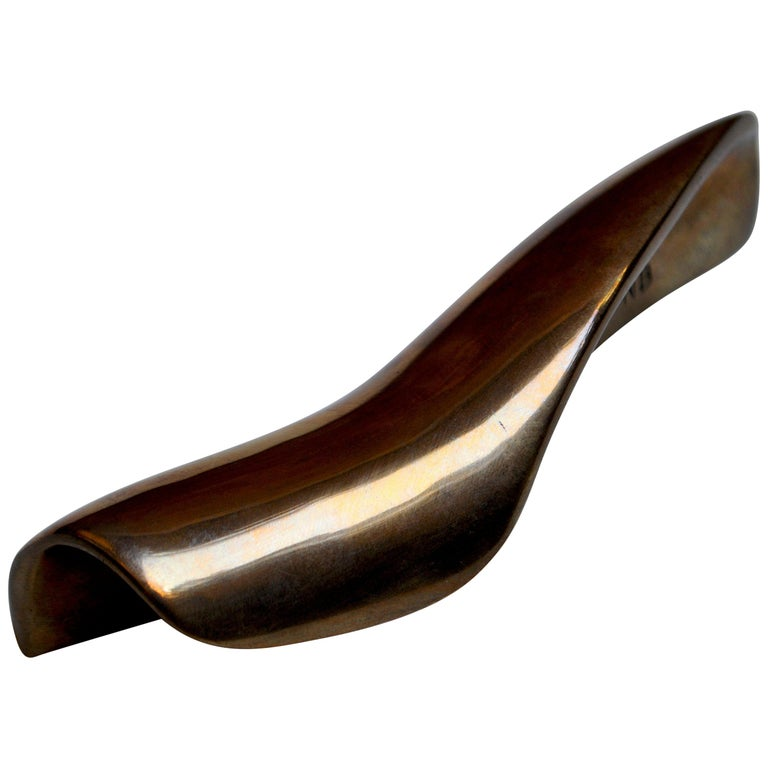 Contemporary Sculptural Bronze Handle, Dae, Cast in French Sand Molds For Sale