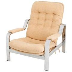 Chrome Steel Adjustable Armchair, circa 1970-1980