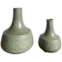 Einar Johansen for Søholm Scandinavian Stoneware Vases Set, 1960s