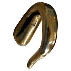 Contemporary Sculptural Bronze Handle 'Kiku' Cast in French Sand Molds