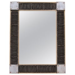 Midcentury Industrial Style Aluminum Framed Mirror