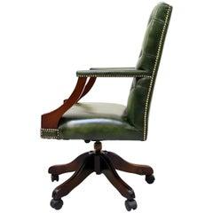 Bürostuhl Antik Chesterfield Sessel Bürosessel Leder Vintage