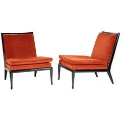 Pair of T.H Robsjohn- Gibbings Slipper Chairs for Widdicomb