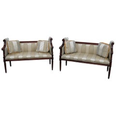 Pair of Louis XVI Style Loveseats