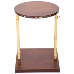 Japanese Pine and Bamboo and Lacquered Side Table