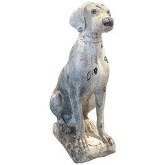 Midcentury Stone Dalmation Dog Statue