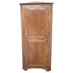 19th Century Italian Walnut Corner Cupboard or Corner Cabinet
