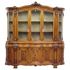 Cupboard Bookcase Antique Table Display Case Baroque Italy Alt