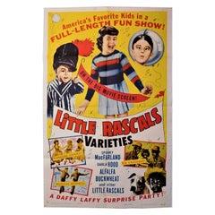 """Little Rascals Varieties"" 1959 Theatrical Movie Poster Spanky Buckwheat Alfalfa"