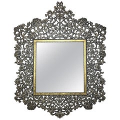 Wrought Iron Filigree Wall Mirror
