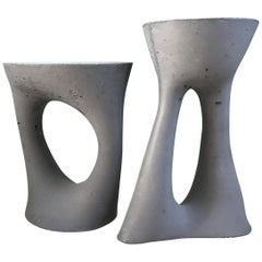Pair of Charcoal Kreten Side Tables from Souda, Factory 2nds