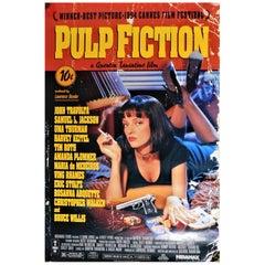 """Pulp Fiction"" 1994 Recalled Movie Poster Quentin Tarantino Sexy Uma Thurman"