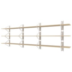 Customizable Set of 3 Strut Shelves from Souda, Maple, Extra Long, Made to Order