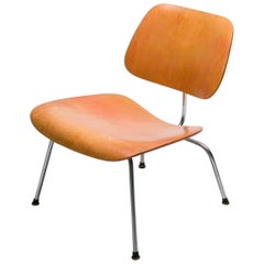 Eames LCM with Red Aniline Dye Finish