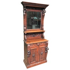 19th Century English Jacobean Oak Cabinet