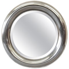 Reggiani Italian Circular Chrome Mirror, 1970s