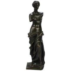 Cabinet Size Bronze Sculpture of Venus de Milo after Ron Liod Sauvage