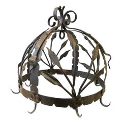 Iron Decorated Office Crown, 19th Century