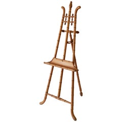 Faux Bamboo Display Easel of Turned Wood