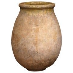 Large Mid-19th Century French Terracotta Olive Jar from Provence