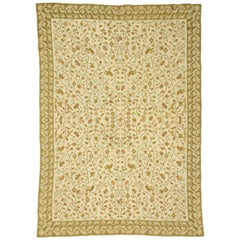 Antique Arraiolos Rug with European Country Charm, Portuguese Needlepoint Rug