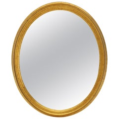 La Barge Oval Gold Frame Wall Mirror