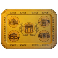 Large Metal Serving Tray by Mottahedeh Paris Architecture
