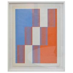 """Framed Richard Anuszkiewicz """"Celebrate New York"""",  1973"""