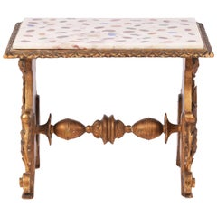 Specimen Marble Topped Giltwood Side Table