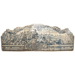 Monumental 3-Piece 18th Century Azulejo Mural Panel from Portugal