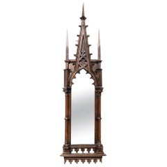 Large/Massive Antique 17th Century Gothic Period Mirror Church/Castle