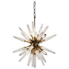 Natural White Quartz Sputnik, Small Iconic Pendant Lamp