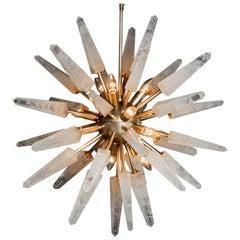 Natural White Quartz Sputnik, Iconic Pendant Lamp