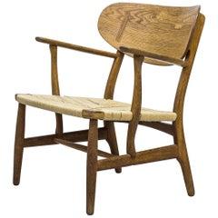 "Early ""CH-22"" easy chair by Hans J. Wegner, Carl Hansen & Søn, Denmark, 1950s"