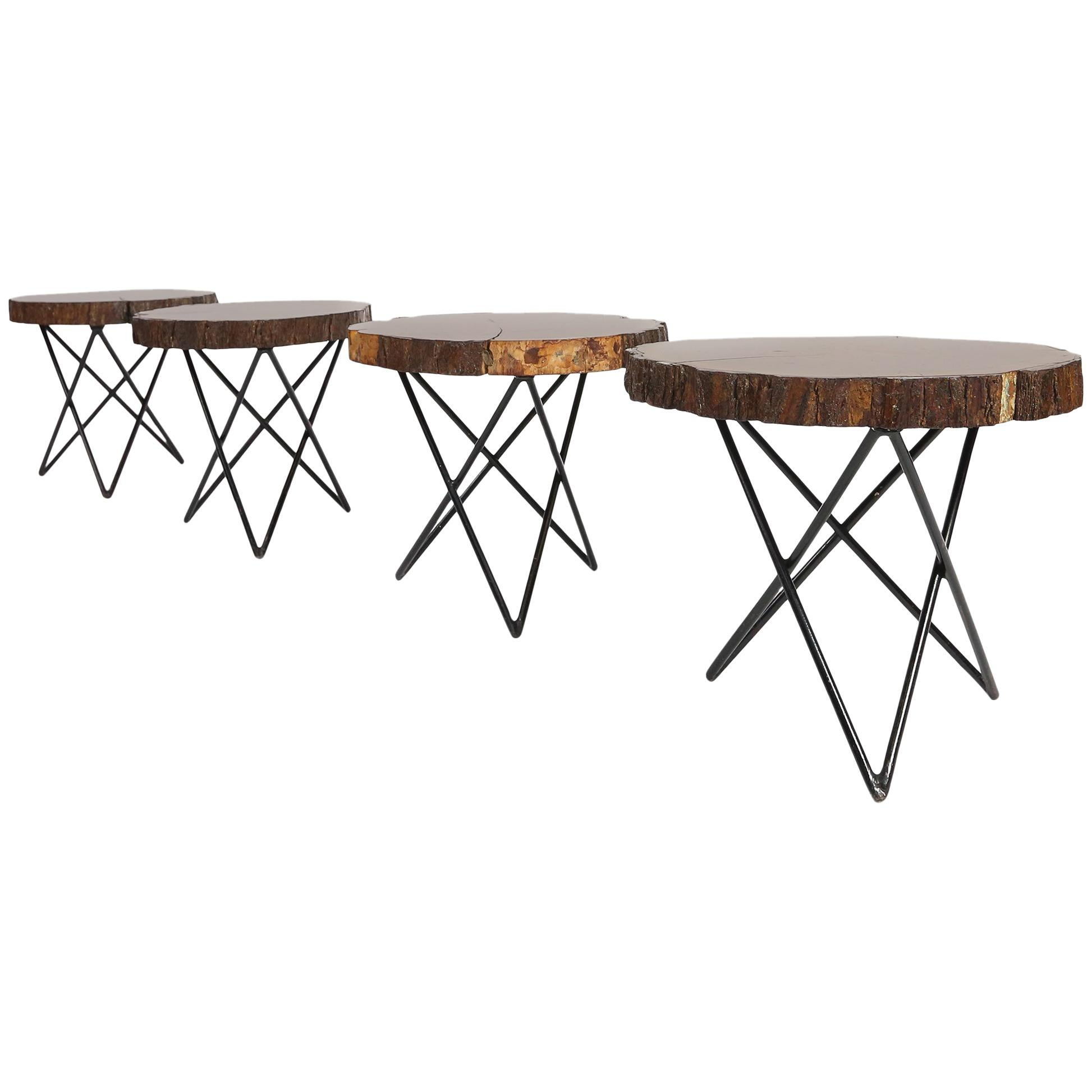 Midcentury Side or Coffee Tables with Hairpin Legs Original, France, 1950s