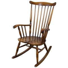 Beautifully Crafted Rocking Chair, 1950s