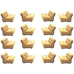Set of 19 Amanta Lounge Chairs Designer Mario Bellini for B&B, Italia