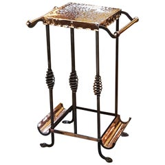 Late 19th Century Aesthetic Copper and Steel Umbrella Stand